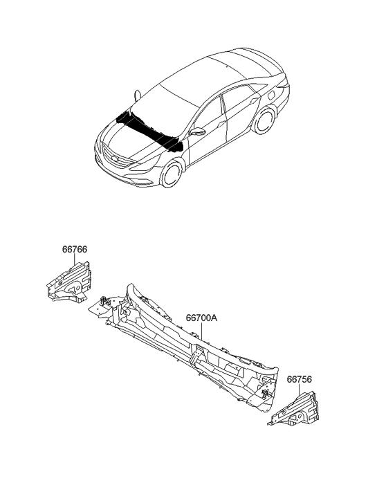 2011 Hyundai Sonata Cowl Panel