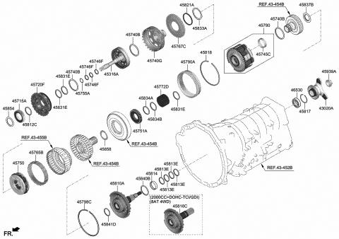 Genuine Hyundai 45832-4E000 Thrust Bearing