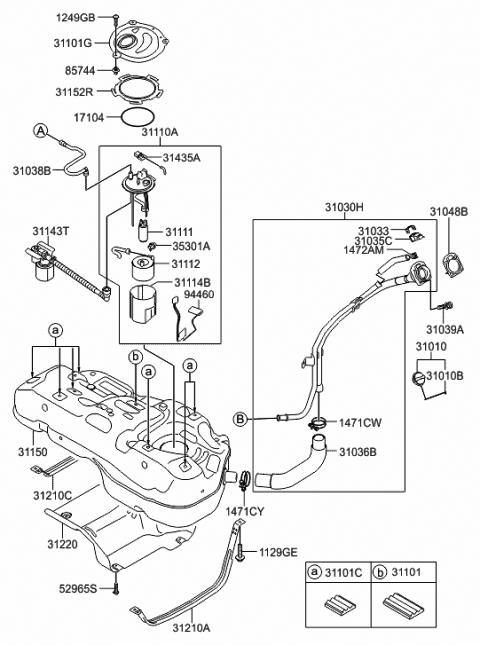 31110-2s510 - genuine hyundai complete-fuel pump  hyundai parts deal