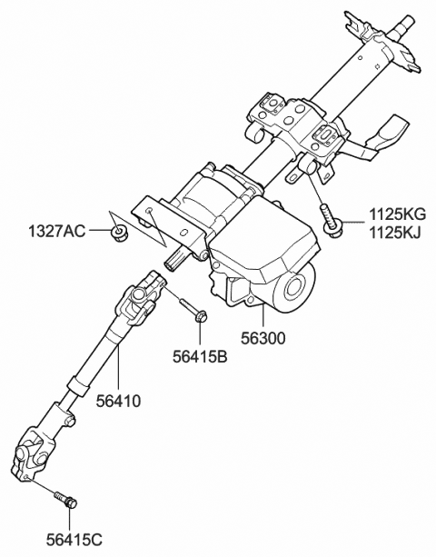 Genuine Hyundai 56400-0A000 Universal Joint Assembly