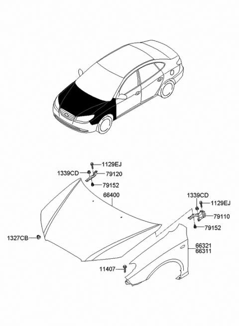 66311-2H022 - Genuine Hyundai PANEL-FENDER,LHHyundai Parts Deal