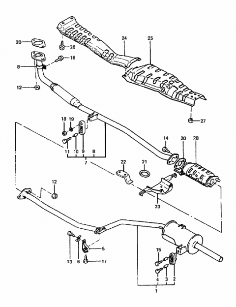 1985 Hyundai Excel Exhaust System