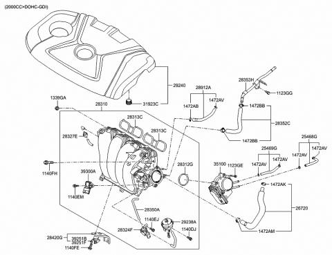Intake Manifold - 2014 Hyundai Elantra GTHyundai Parts Deal