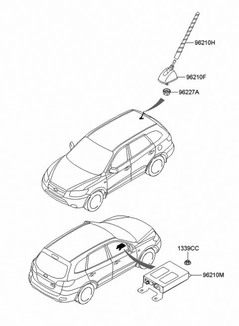 Antenna - 2007 Hyundai Santa Fe
