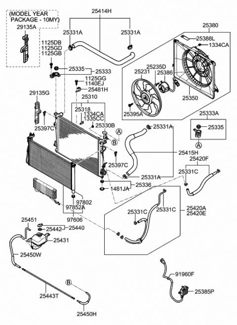 2008 Hyundai Azera Engine Cooling System - Hyundai Parts Deal | 2008 Azera Engine Diagram |  | Hyundai Parts Deal