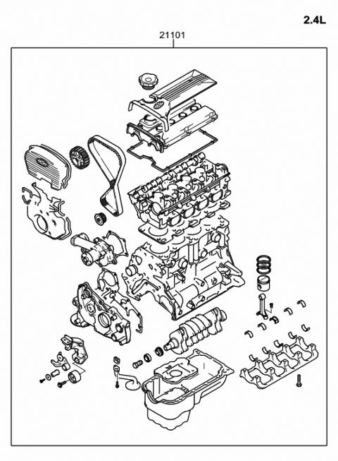 2002 Hyundai Sonata Sub Engine Assy Hyundai Parts Deal