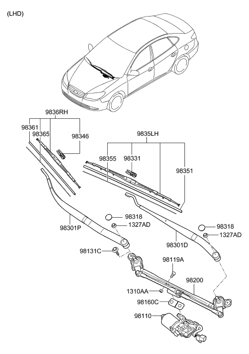 2007 hyundai elantra parts diagram  u2022 wiring diagram for free