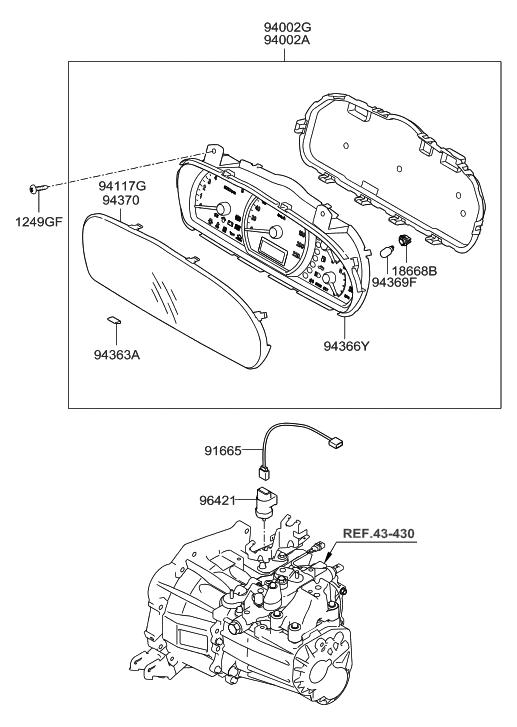 2010 Hyundai Elantra Instrument Cluster Hyundai Parts Deal