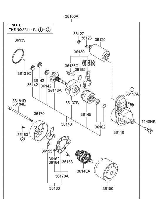 2009 Hyundai Elantra Starter Hyundai Parts Deal