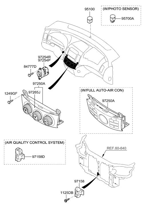 2008 Hyundai Elantra Heater System-Heater Control