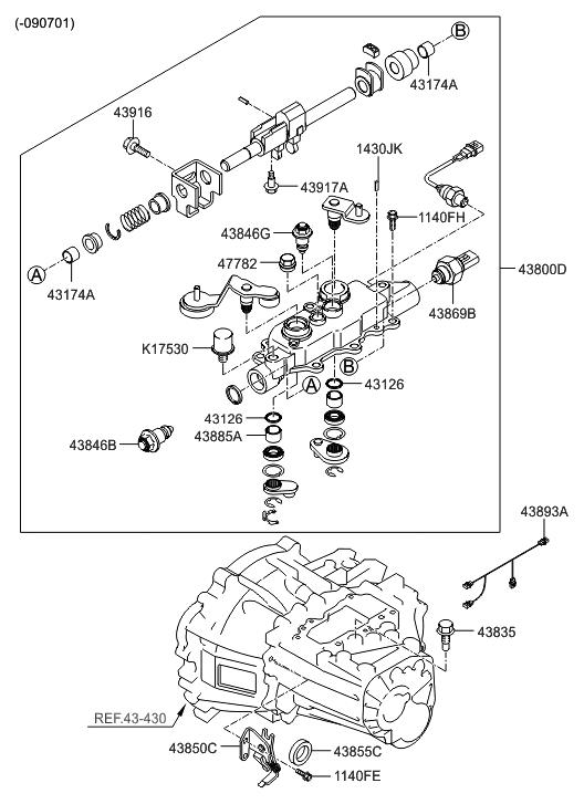 Hyundai Elantra Manual Transmission Diagram