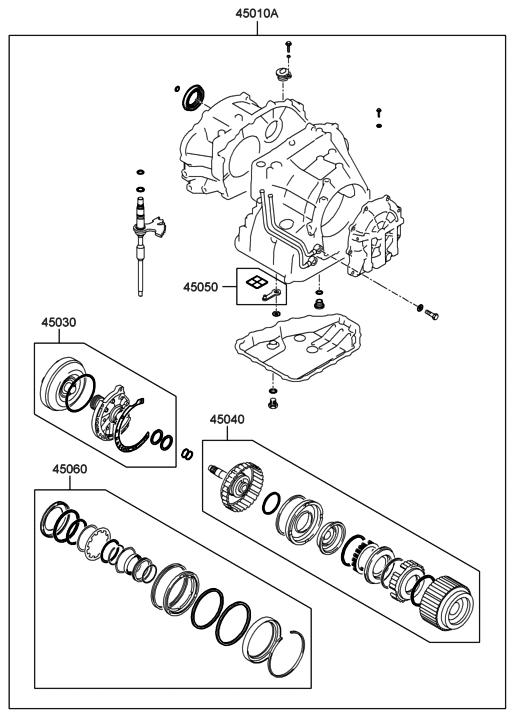 2010 Hyundai Elantra Transaxle Gasket Kit-Auto