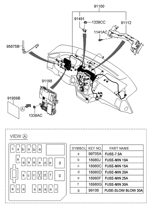 2008 hyundai entourage fuse diagram 91954 4d100 genuine hyundai parts  91954 4d100 genuine hyundai parts
