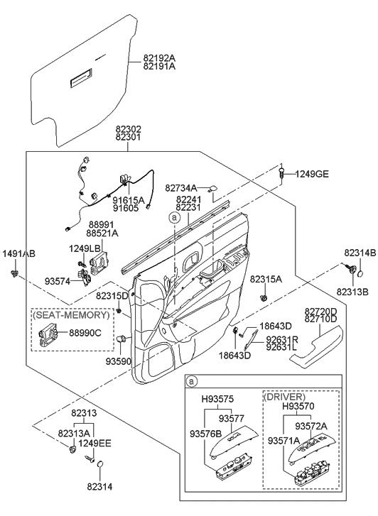 hyundai entourage headlight switch wiring diagram 93540 4d000 genuine hyundai parts  93540 4d000 genuine hyundai parts