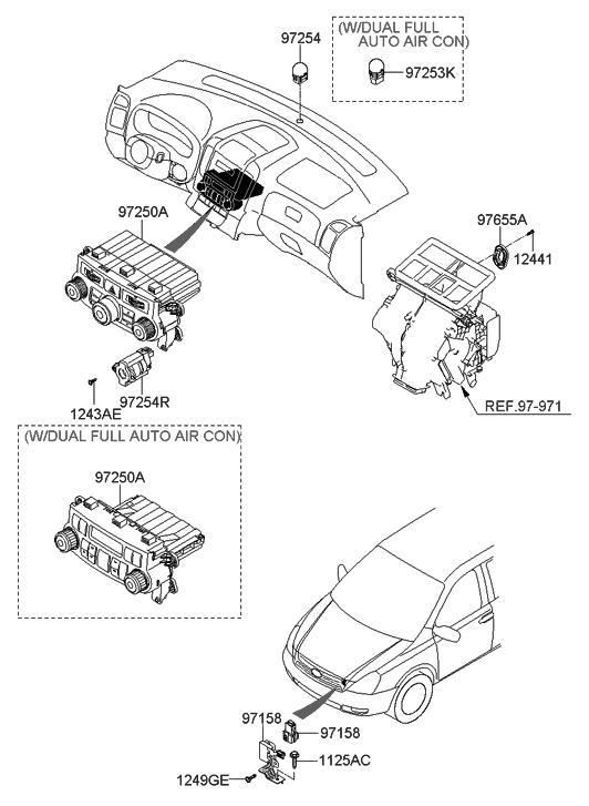 2008 Hyundai Entourage Heater System-Heater Control