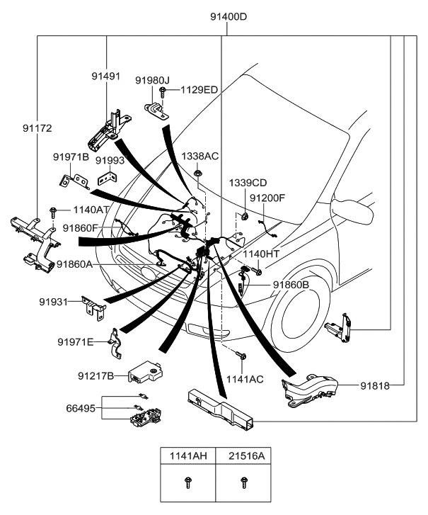 2007 Hyundai Entourage Control Wiring