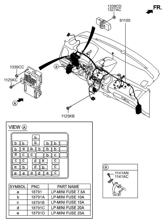 91010-2S171 - Genuine Hyundai WIRING ASSEMBLY-MAIN