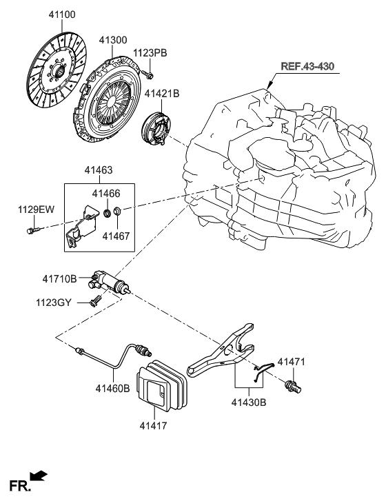 Hyundai Disc Assy Clutch~41100 3d000