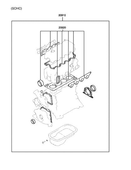 20910 26d00 genuine hyundai gasket kit engine overhaul. Black Bedroom Furniture Sets. Home Design Ideas