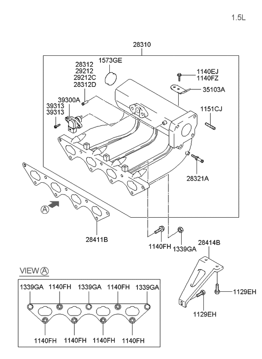 2005 Hyundai Accent Engine Diagram