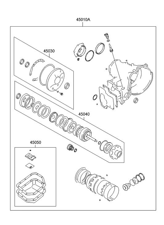 2004 Hyundai Accent Transaxle Gasket Kit-Auto