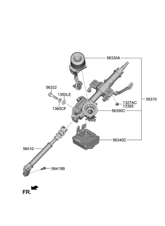 2013 Hyundai Elantra GT Steering Column & Shaft