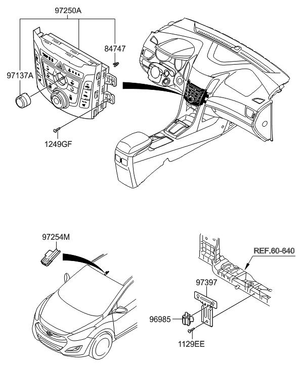 2013 Hyundai Elantra GT Heater System-Heater Control
