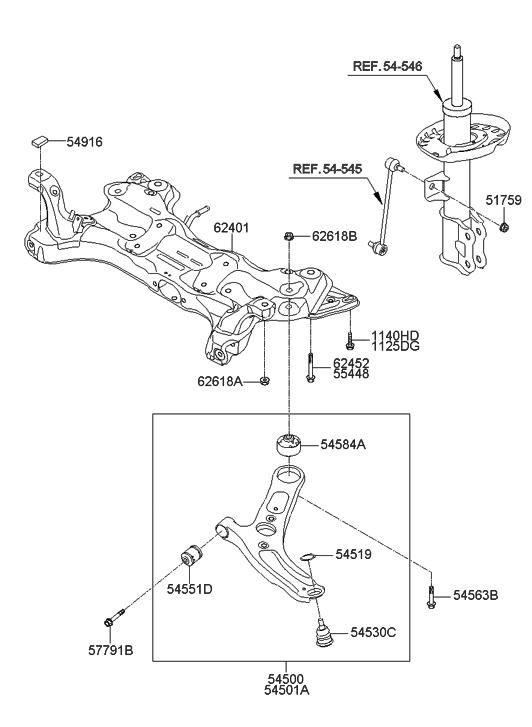 2013 Hyundai Elantra Gt Front Suspension Crossmember