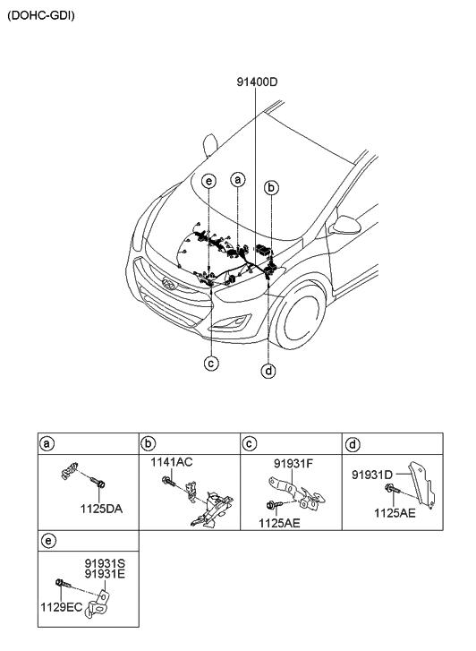 2013 Hyundai Elantra Gt Wiring Diagram : A genuine hyundai wiring assembly control