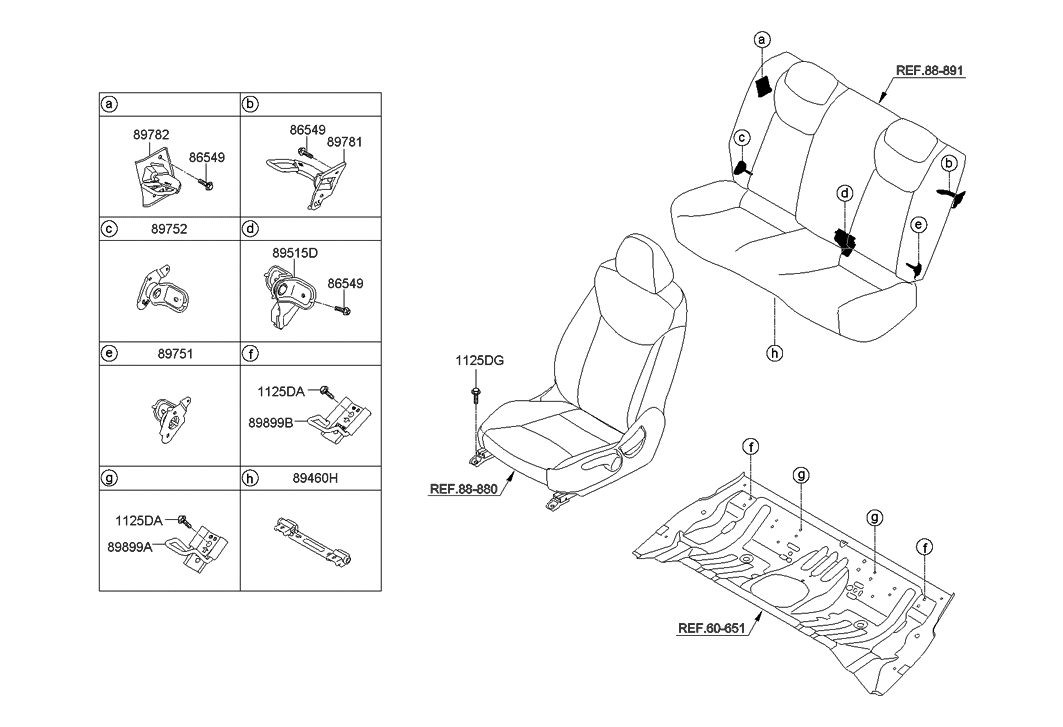 2013 Hyundai Elantra Gt Hardware Seat Hyundai Parts Deal