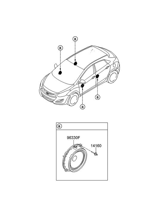 2014 Hyundai Elantra Gt Speaker