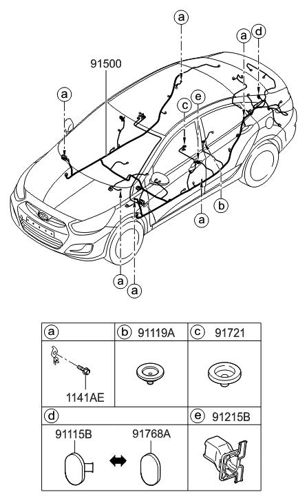 2016 Hyundai Accent Floor Wiring