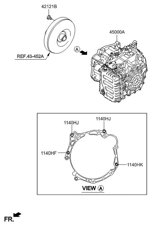 2015 Hyundai Accent Transaxle Assy Auto Hyundai Parts Deal