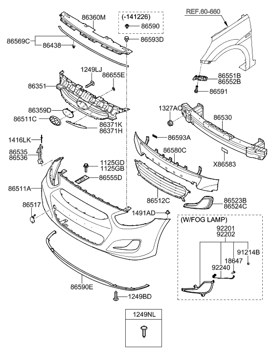 86351-1r510 - genuine hyundai grille-radiator 2013 hyundai accent front bumper parts diagram hyundai accent spark plug wiring diagram