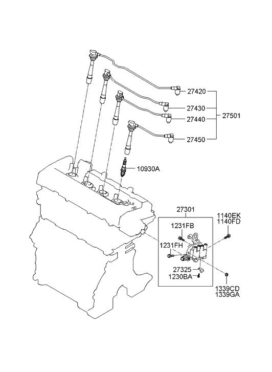 2003 Hyundai Elantra Spark Plug  U0026 Cable