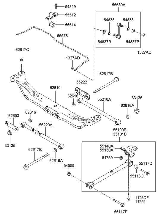 55116 29000 Genuine Hyundai Bush Trailing Arm