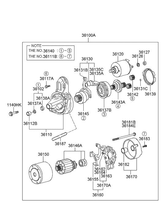 2002 hyundai elantra starter motor hyundai parts deal. Black Bedroom Furniture Sets. Home Design Ideas