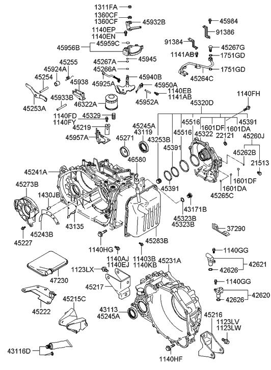 4528339000  Genuine    Hyundai    COVERVALVE BODY