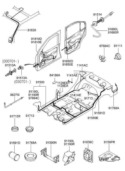 2004 Hyundai Elantra Miscellaneous Wiring - Hyundai Parts Deal