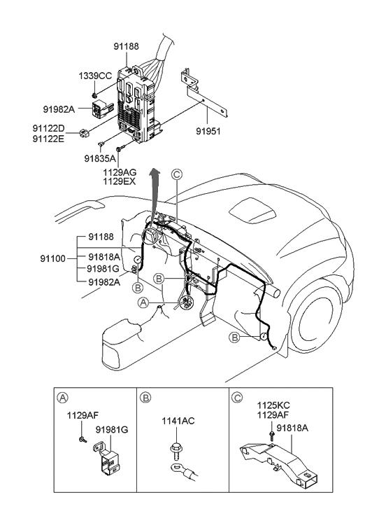 2001 Hyundai Santa Fe Main Wiring Hyundai Parts Deal