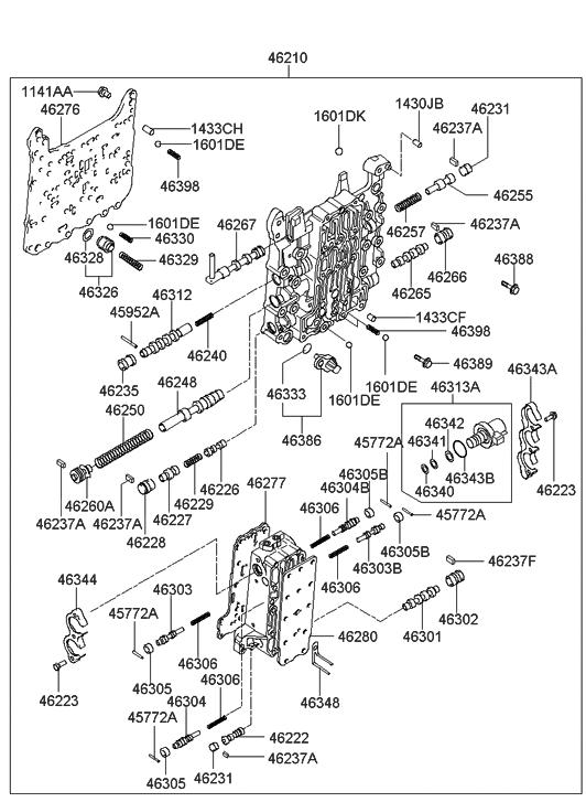 Hyundai Santa Fe Body Parts Diagram