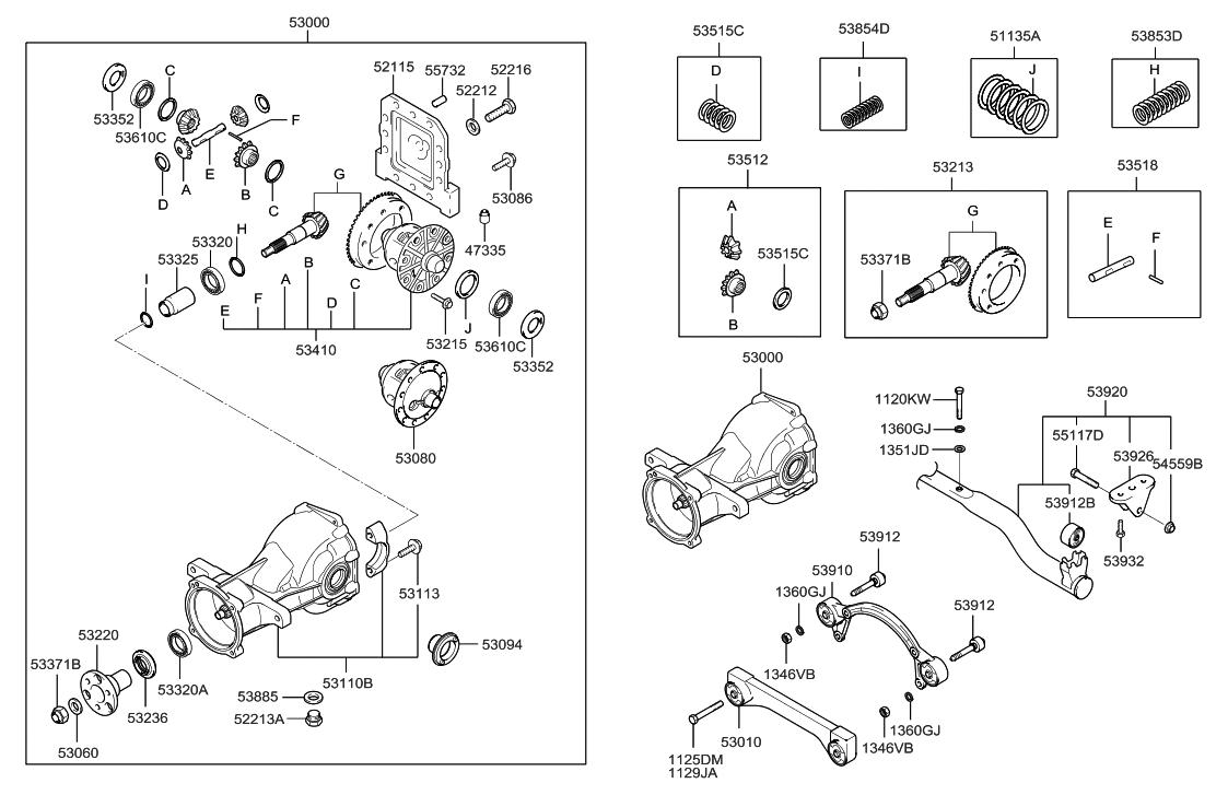 54559-22100 - Genuine Hyundai FLANGE NUT-SELF LOCKING