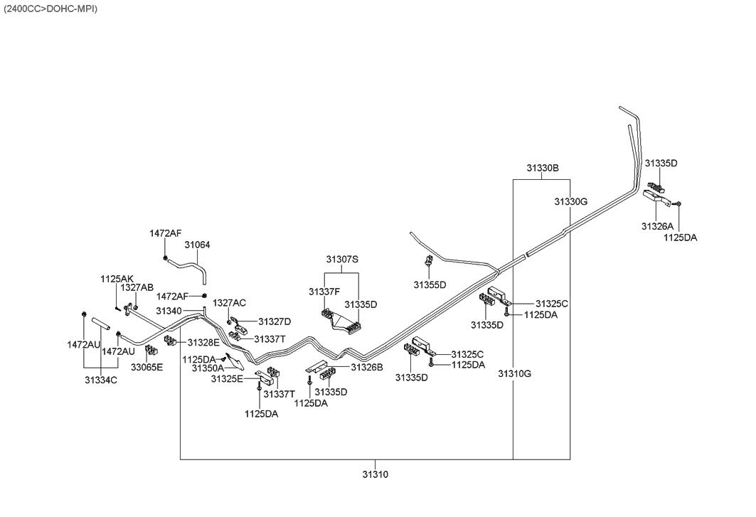 2004 hyundai santa fe fuel line hyundai parts deal rh hyundaipartsdeal com 2001 hyundai accent fuel system diagram 2001 hyundai elantra fuel system diagram