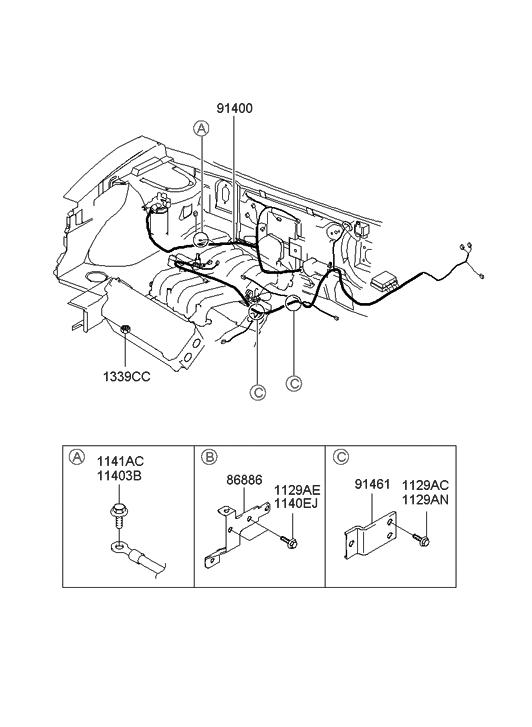 santa fe wiring diagrams 2001 2001 hyundai santa fe control wiring hyundai parts deal  2001 hyundai santa fe control wiring