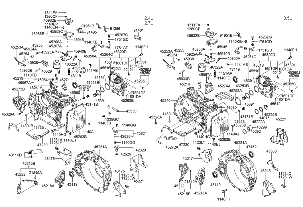 47452-39000 - genuine hyundai seal-oil 2009 hyundai santa fe transmission diagram wiring schematic