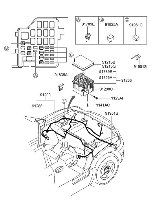 91200-26100 - Genuine Hyundai WIRING ASSEMBLY-ENGINE