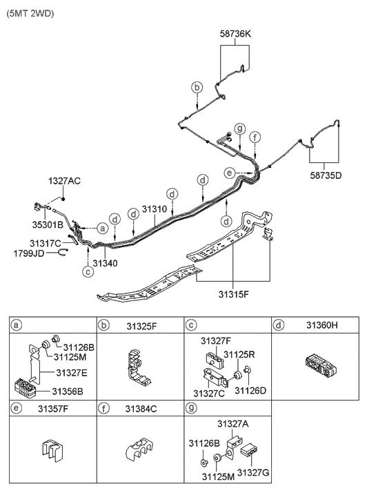Genuine Hyundai 31340-2H500 Fuel Vapor Tube