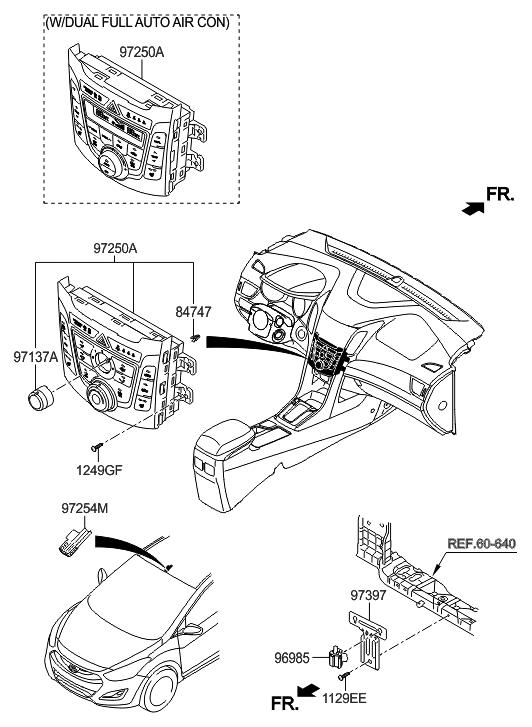 2017 Hyundai Elantra GT Heater System-Heater Control