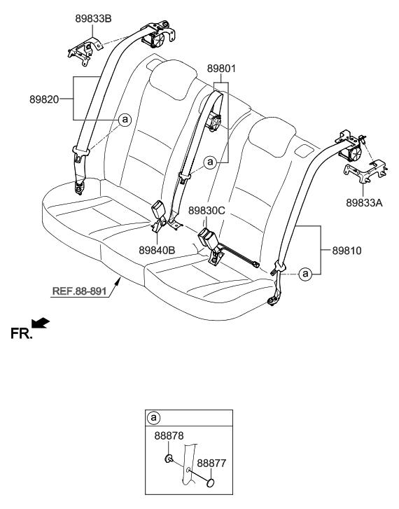 2015 hyundai elantra gt rear seat belt