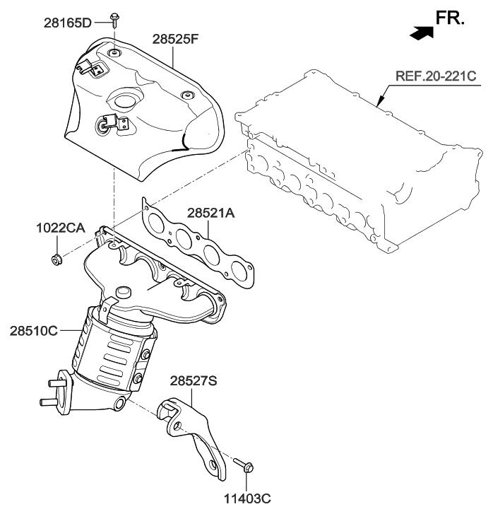 2015 Hyundai Elantra GT Exhaust Manifold